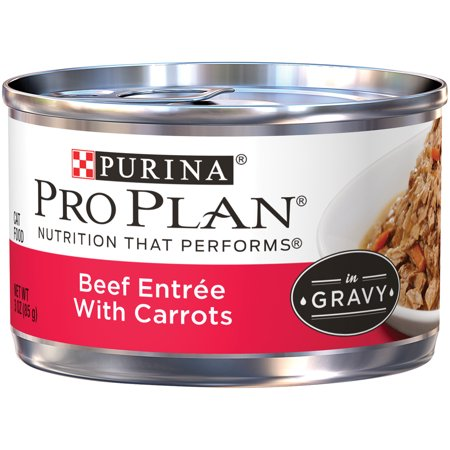 Braised Beef (Purina Pro Plan Beef Entree With Carrots Braised in Gravy Adult Wet Cat Food - (24) 3 oz. Pull-Top Cans)