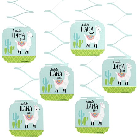 Whole Llama Fun - Llama Fiesta Baby Shower or Birthday Party Hanging Decorations - 6 Count](New Years Decorations)