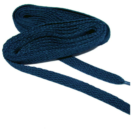 54 Inch 137 cm Navy Blue proATHLETIC™ flat 8mm Chucks style sneaker shoelaces -(2 Pair Pack)