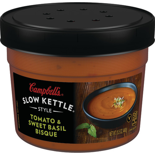 Campbell's Slow Kettle Style Tomato & Sweet Basil Bisque, 15.5 oz.