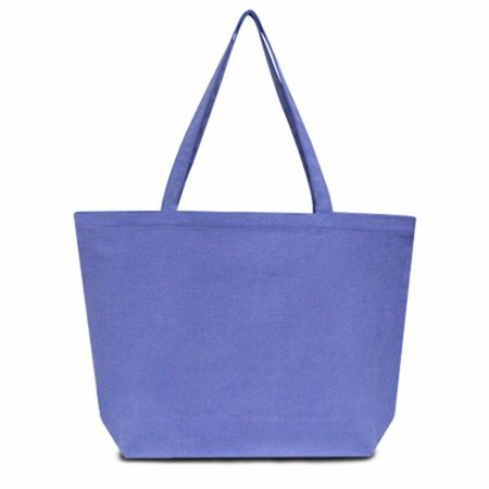 Seaside Cotton Pigment Dyed Large Tote, Periwinkle Blue - Case of 72 - image 1 of 1