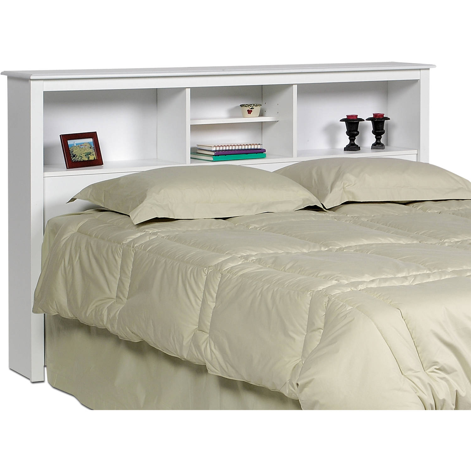 prepac full queen bookcase headboard walmart com rh walmart com headboards with shelves for king size beds Full Size Bookcase Headboards