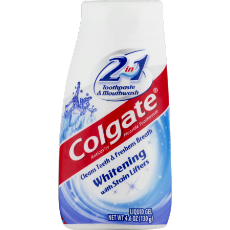 Colgate 2-in-1 Whitening Toothpaste Gel and Mouthwash - 4.6 (Brushing Teeth With Mouthwash Instead Of Toothpaste)