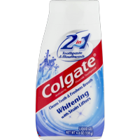 Colgate 2-in-1 Whitening Toothpaste Gel and Mouthwash - 4.6 Ounce