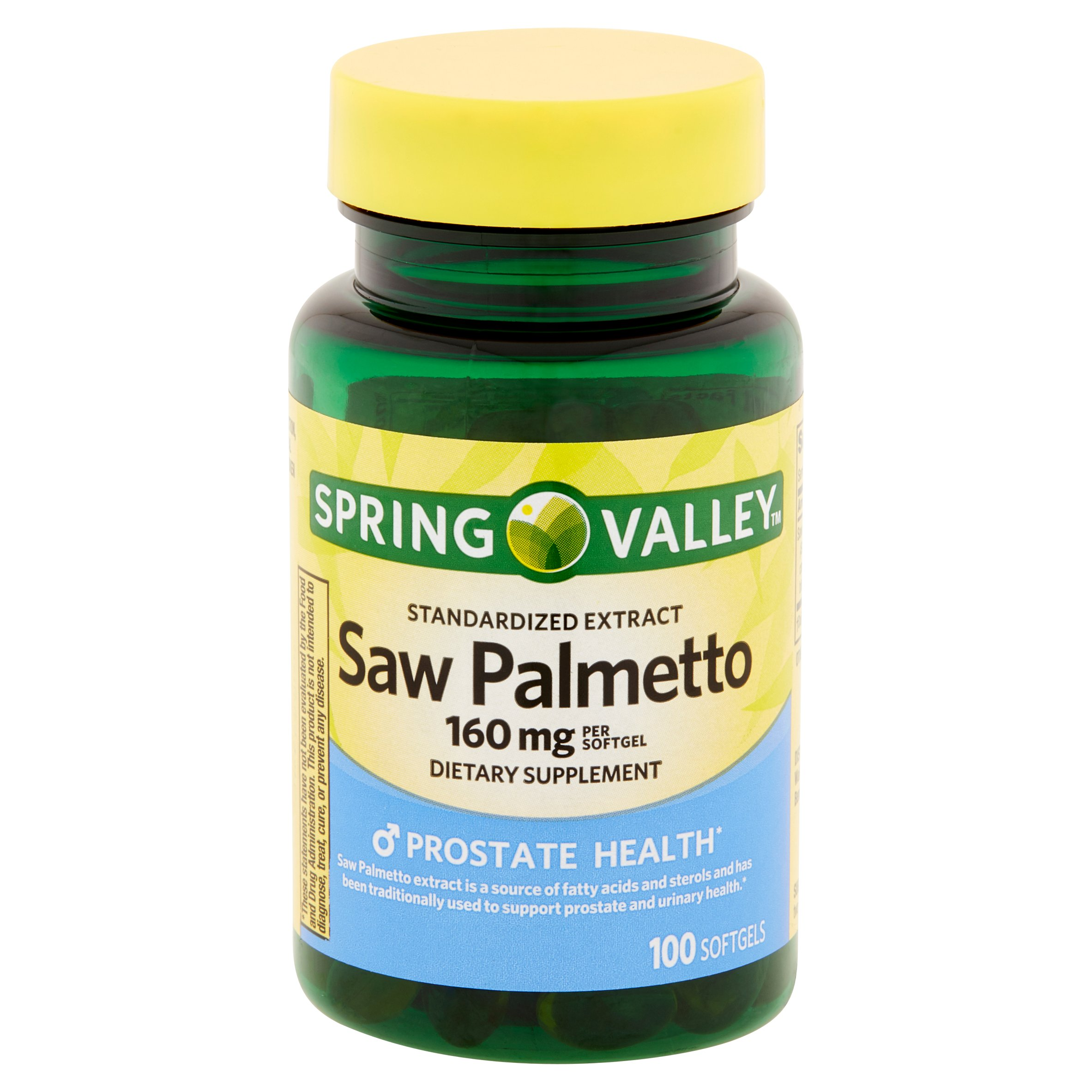 Spring Valley Saw Palmetto Extract Softgels 160 mg 100 Ct