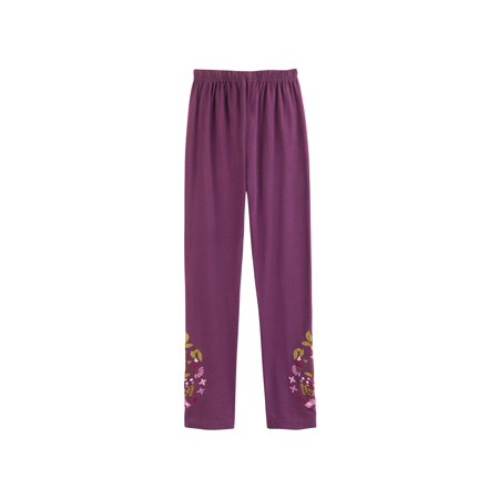 87b941a9e0b23 April Cornell - April Cornell Women's Floral Embroidered Comfort-Fit Leggings  with Ankle Print - Walmart.com