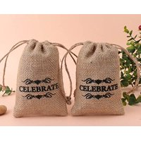 [USA-SALES] Burlap Drawstring Gift Bags, Wedding Favor Pouches, 4 x 6, Count - 10pcs, by USA-SALES Seller