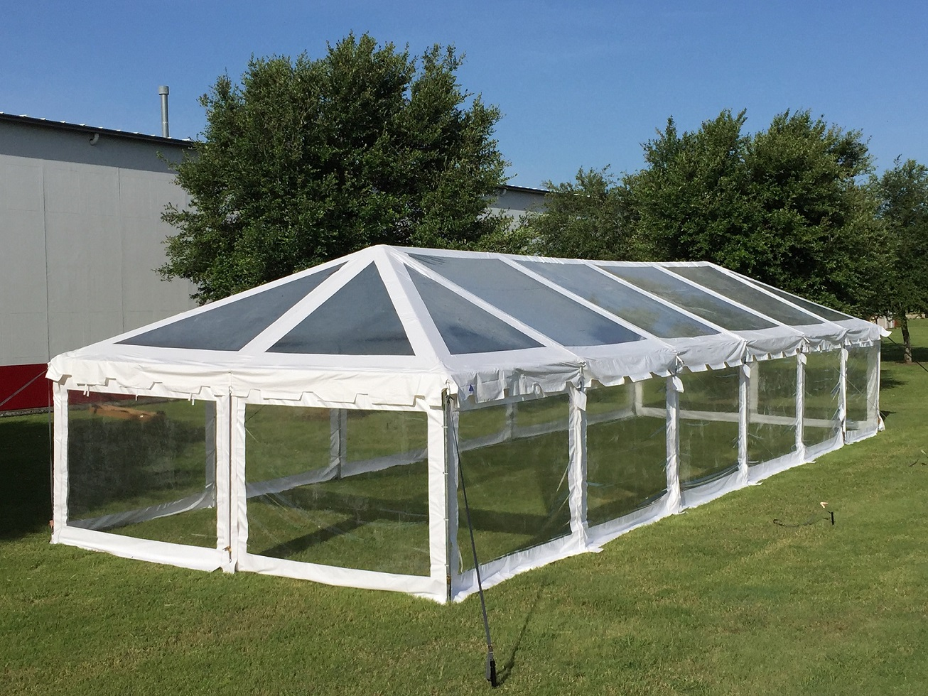 60 X20 Clear Pvc Combi Party Tent Heavy Duty Canopy