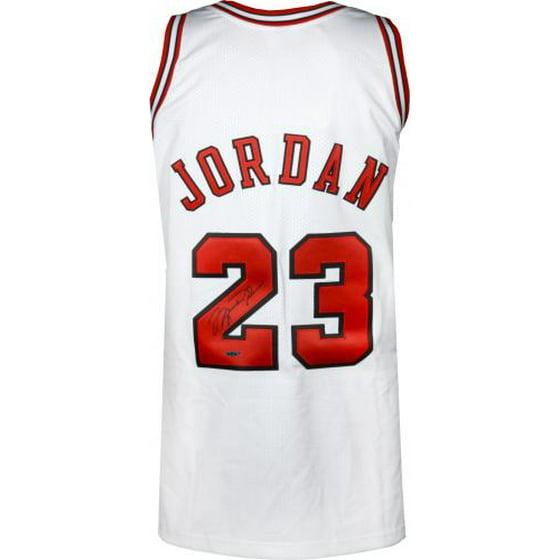 a04e741d46e Michael Jordan Chicago Bulls Autographed 1997-98 Mitchell   Ness White  Jersey - Upper Deck - Fanatics Authentic Certified - Walmart.com