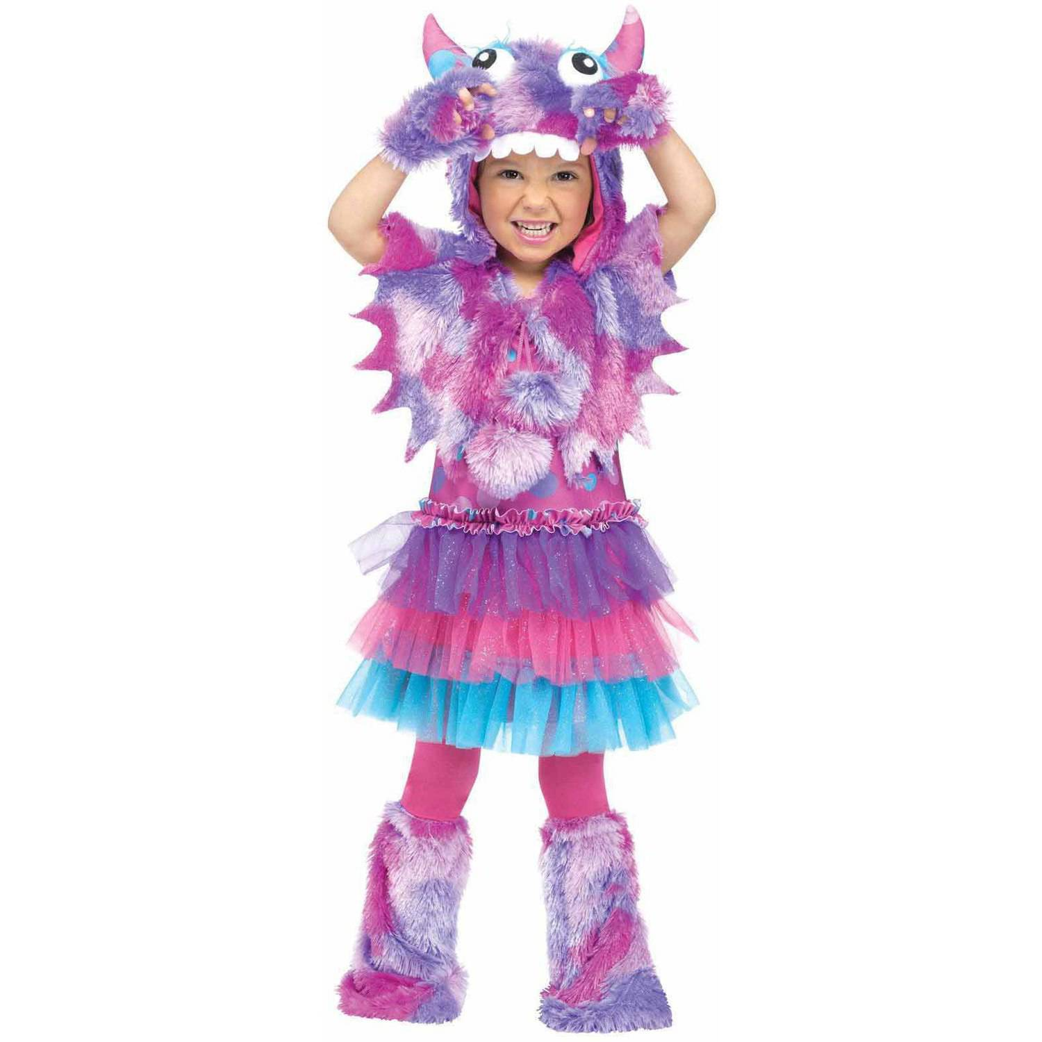 polka dot monster girls toddler halloween costume walmartcom - Baby Monster Halloween Costumes