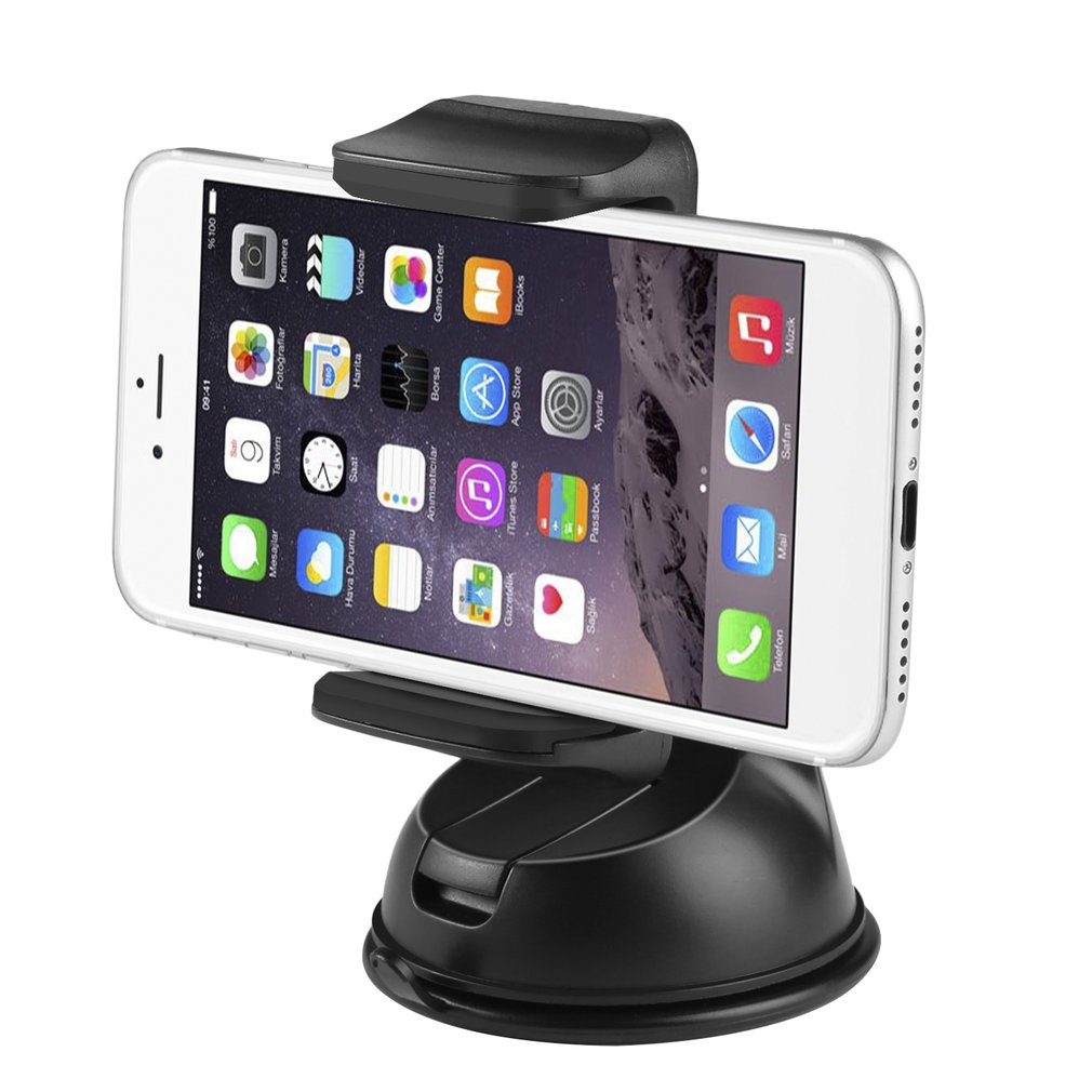 CJT-C5 Mini Universal Mobile Phone Holder Silicone Suction Cup Base 360 Angle Rotation Sturdy Screwless Design Flexible Clip