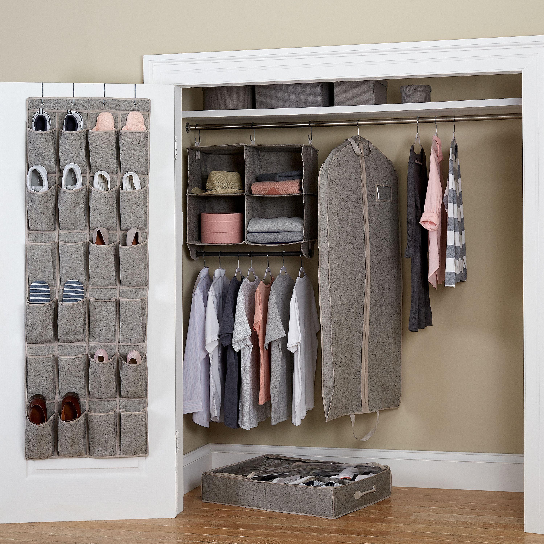 Better Homes & Gardens 5-Piece Closet Organizer Set, Gray