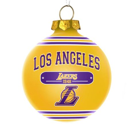 Los Angeles Lakers Official NBA 3 inch x 3 inch 2014 Year Plaque Ball Ornament by Forever Collectibles