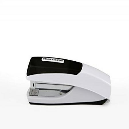 PraxxisPro Ergonomic Full Strip Desktop Stapler, Ionic Grip Office Stapler, White