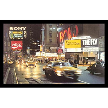 buyartforless FRAMED Criterion Center - Times Square - New York City by Davis Cone 32x19 Art Print Poster - Photorealism Painting