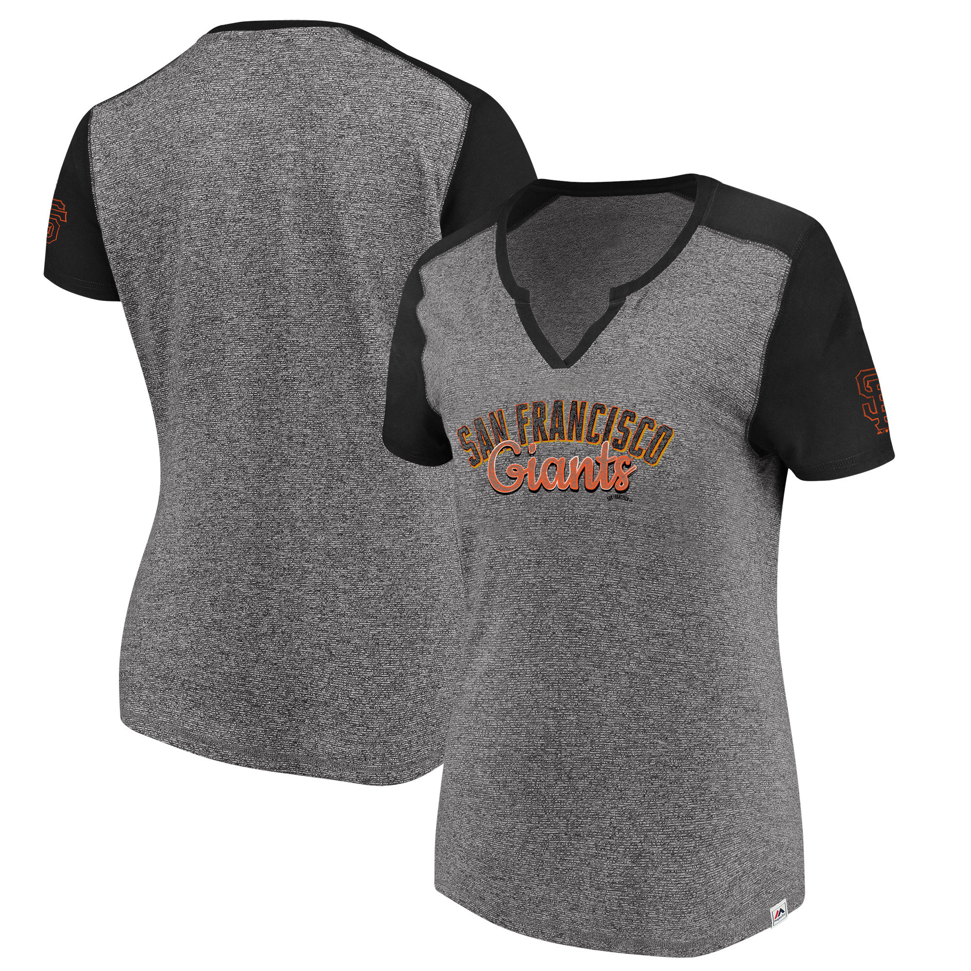 San Francisco Giants Majestic Women's Invulnerable T-Shirt - Gray