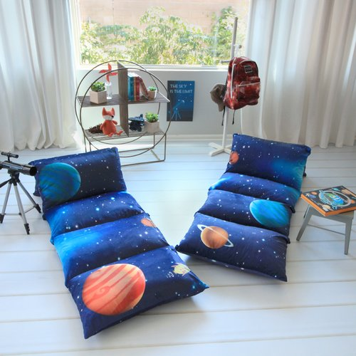 Zoomie Kids Hoople Galaxy Themed Pillow Cover