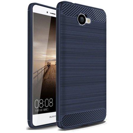Huawei Ascend XT 2 Case, Huawei Elate 4G LTE Case, Carbon Fiber Shock Resistant Brush Texture Soft TPU Phone case Anti-fingerprint Flexible Protective Cover For Huawei Ascend XT2 H1711 (Blue)