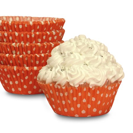 Halloween Orange Polka Dot Cupcake Baking Cups 2