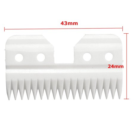 18 Teeth Ceramic Cutters Blades For A5 Series Pet Clipper Replacement For Pet - image 1 of 6
