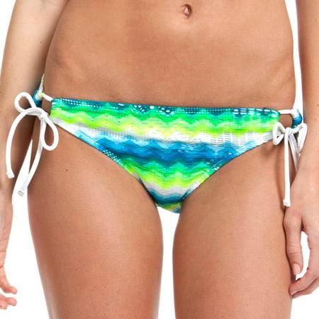 Op Juniors Swim Chevron Crochet Bikini Swimsuit Bottom With Side Ties