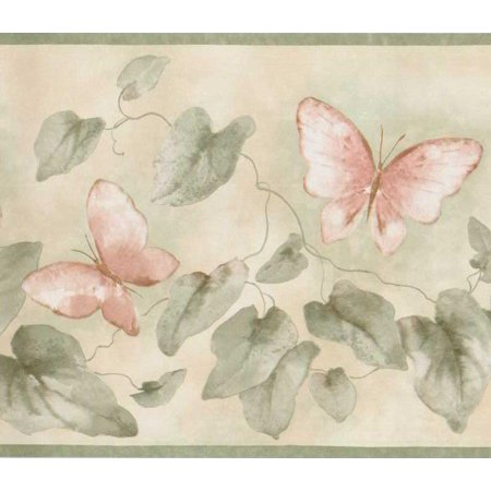 879095 Butterflies and Ivy Wallpaper Border FDB06903 (Ivy Scroll Border)