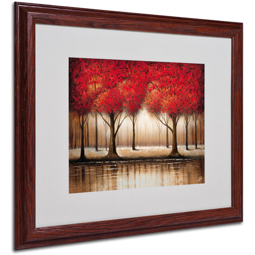 "Trademark Fine Art ""Parade of Red Trees"" Matted Framed Artwork by Rio by TRADEMARK GAMES INC"