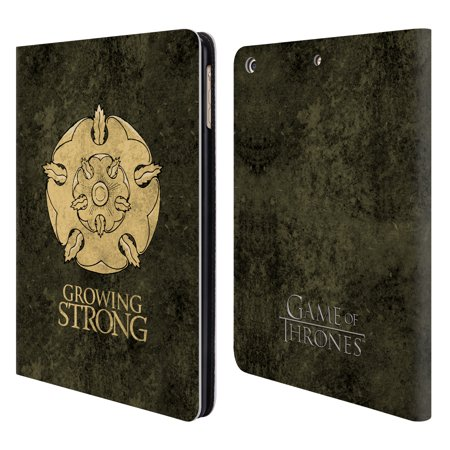 Official Hbo Game Of Thrones Dark Distressed Sigils Leather Book Wallet Case Cover For Apple Ipad