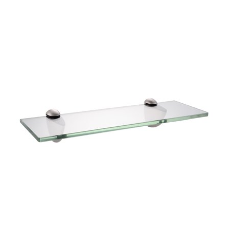 KES 14-Inch Bathroom Tempered Glass Shelf 8MM-Thick Wall Mount Rectangular, Brushed Nickel Bracket, BGS3200S35-2