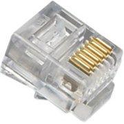 Mod Tel Plugs Flat Strand 6P6C 100PK