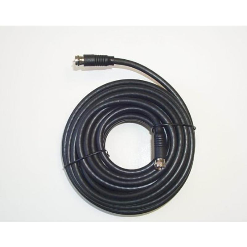 25' Black Rg-6 H.D. Coax With Fittings Black Point TV Wire and Cable BV-084