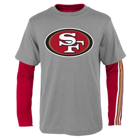 - San Francisco 49ers Youth Fan Gear Squad T-Shirt Combo Pack - Scarlet/Gray