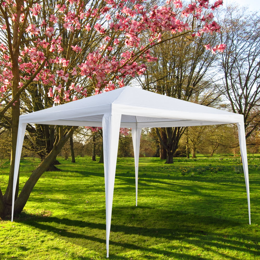 White Gazebo Party Tent Outdoor Garden BBQ Barbecue Parties Backyard Windows 3x6