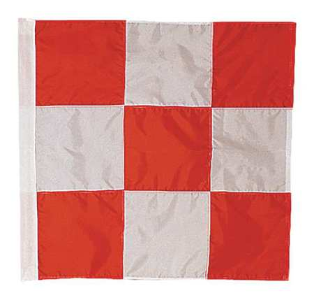 ANNIN FLAGMAKERS 3375 Airfield Vehicle Safety Flag, 3ft.Hx3ft.W