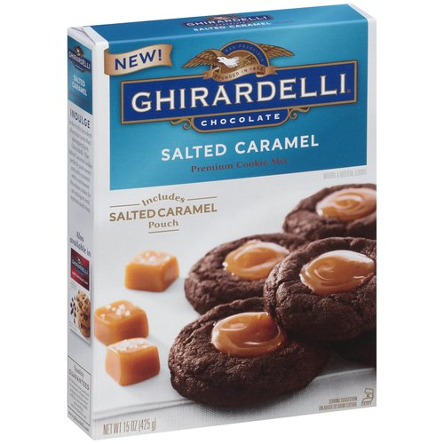 Ghirardelli Salted Caramel Cookie Mix, 15 oz