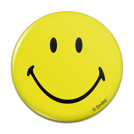 Smiley Smile Happy Yellow Face Pinback Button Pin Badge - 1