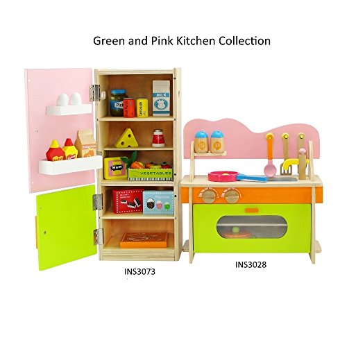 18 Inch Doll Furniture | Amazing Green and Pink Kitchen Oven Stove Sink Combo and Refrigerator Value Pack with... by Emily Rose Doll Clothes