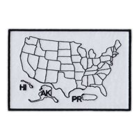 """Motorcycle Jacket Patch - States Traveled Map - Color in States You Visited - 4.5"""" x 3"""" Patch"""