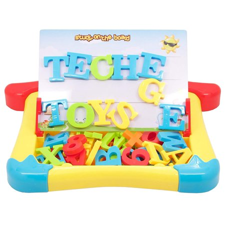 TECHEGE Toys 2 in 1 Magnetic Writing or Drawing Board with Letters, Number, Learning Case for - Learning Toys For 1 Year Old Boy