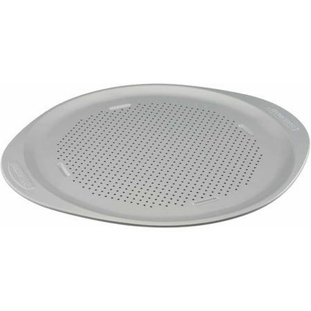 Gourmet Pizza Pan - Farberware Insulated Nonstick Bakeware 15-1/2-Inch Round Pizza Pan, Light Gray