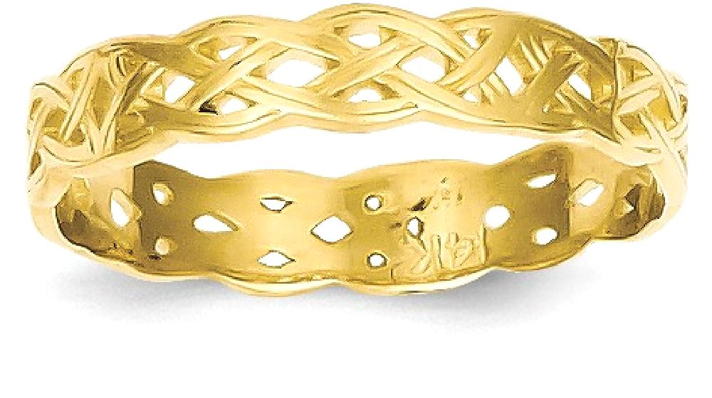 ICE CARATS ICE CARATS 14kt Yellow Gold Irish Claddagh Celtic Knot Wedding Ring Band Size 8.00 Fine Jewelry Ideal Gifts... by IceCarats Designer Jewelry Gift USA