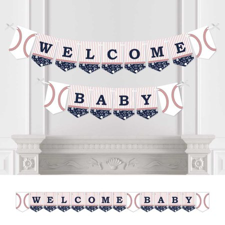 Batter Up - Baseball - Baby Shower Bunting Banner - Sports Party Decorations - Welcome Baby