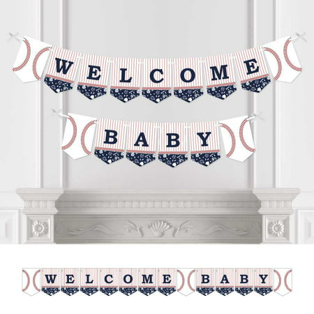 Batter Up - Baseball - Baby Shower Bunting Banner - Sports Party Decorations - Welcome Baby](Baseball Banner)