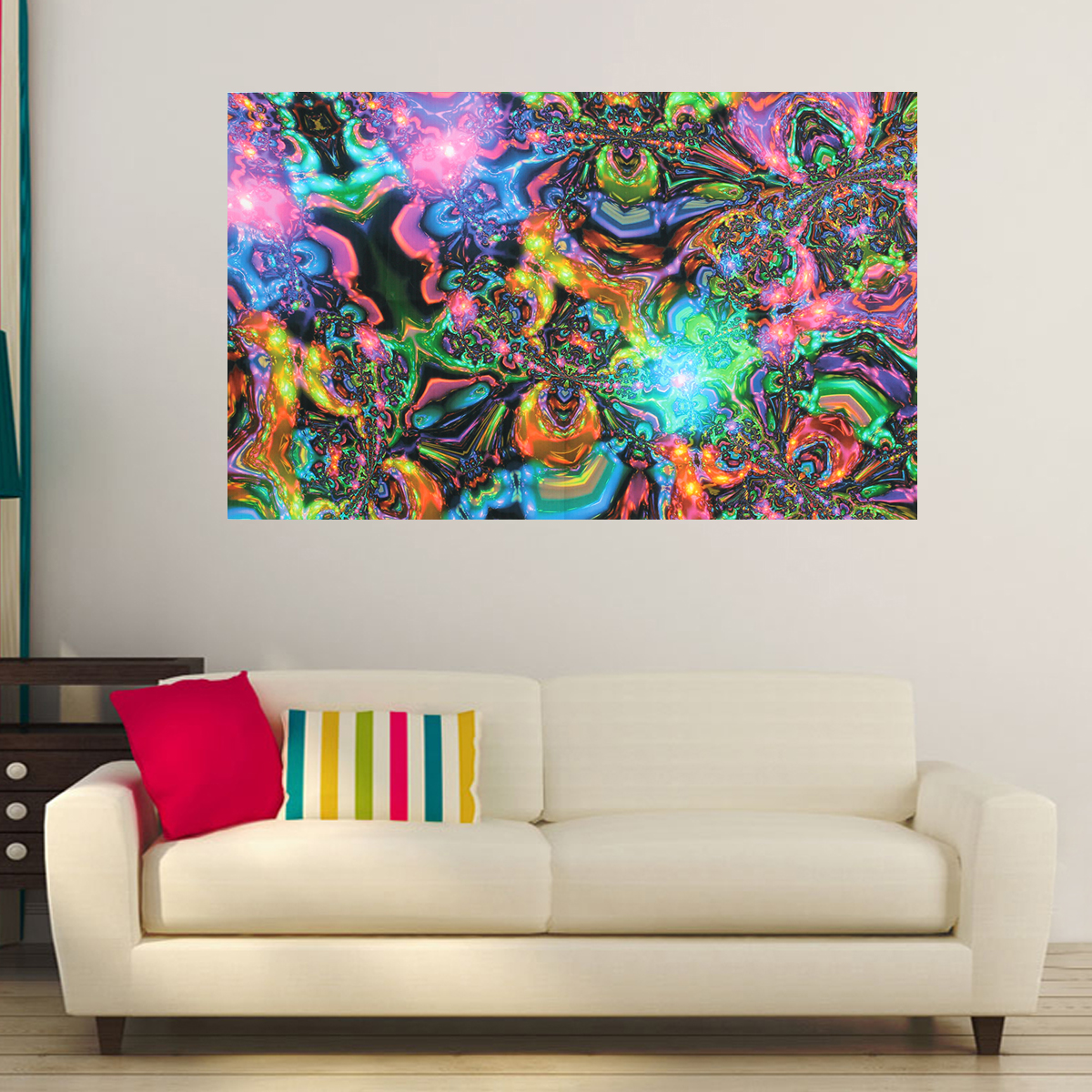 Psychedelic Trippy Modern Home Wall Decor Art Oil Painting ...