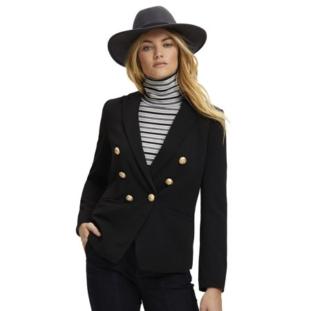 Scoop Women's Double Breasted Crepe Blazer by Scoop