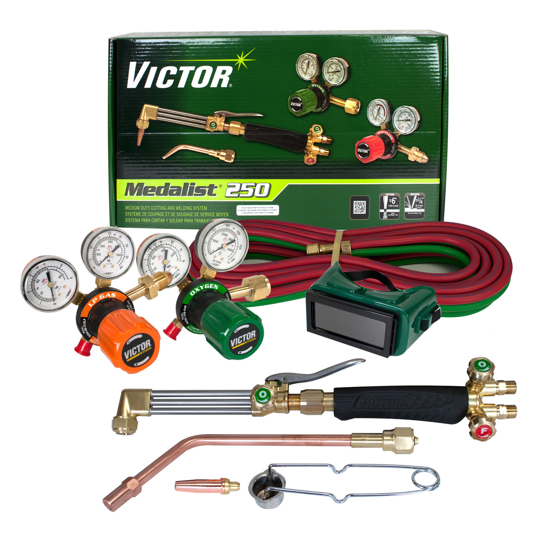 Victor 0384-2544 Medalist 250, AF 510LP Propane Cutting Torch Outfit by Victor Equipment
