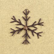 Small Rustic Snowflake with Bell Ornament