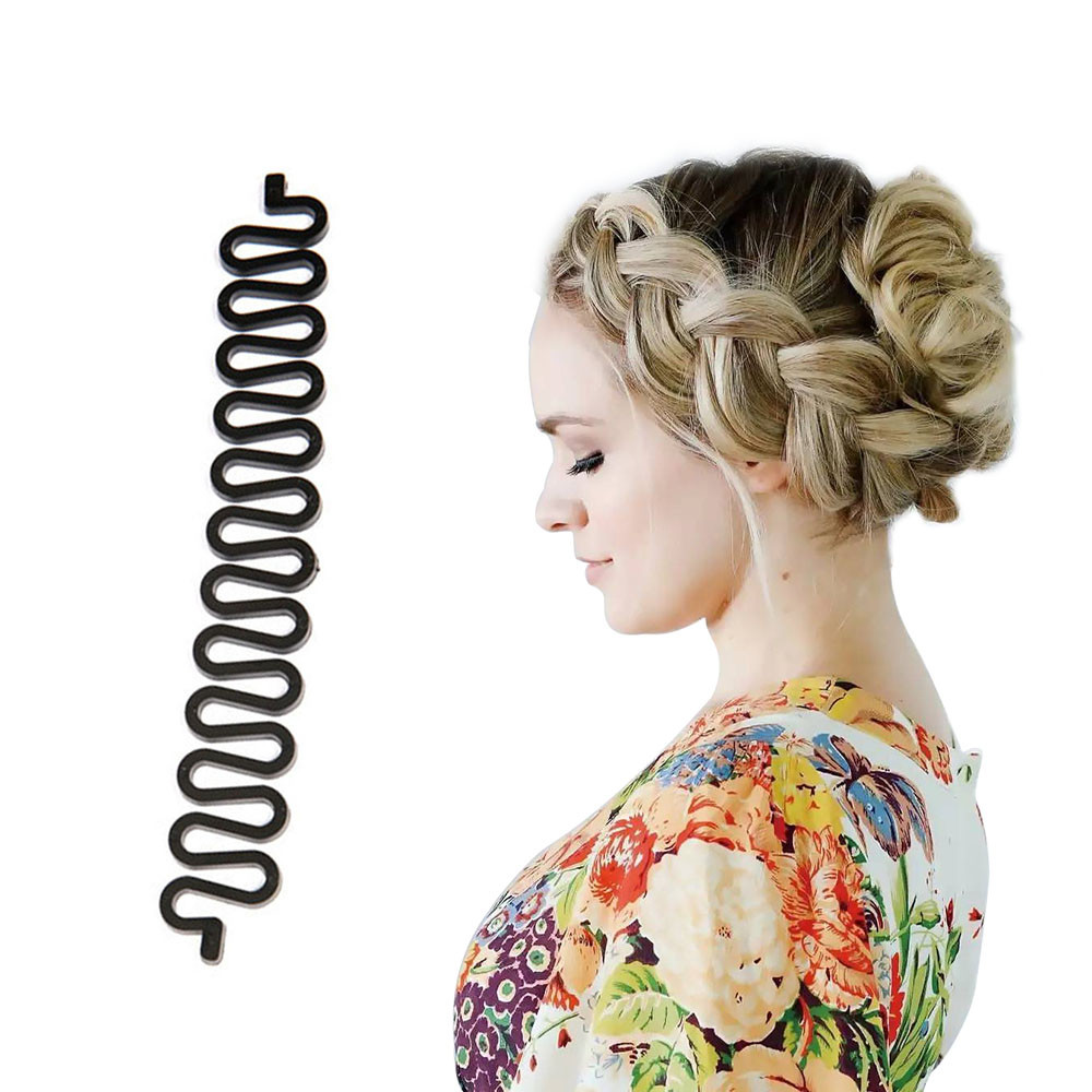 Outtop Hair Braiding Tool Roller With Hook Magic Hair Twist Styling Bun Maker
