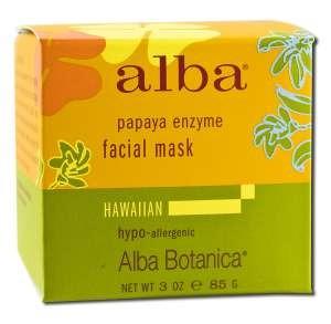 Hawaiian Papaya Enzyme Facial Mask Alba Botanica 3 oz Liquid