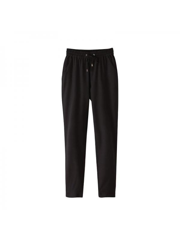 Lavaport Fashion Women Elastic Waist Chiffon Casual Pants